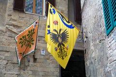 Contrade de Siena, Toscânia, Itália imagens de stock