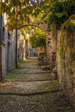 A contrade in Varrena, Italy. An alley or walkway in Varenna, Italy, for pedestrians only. Near Lake Como Royalty Free Stock Photo