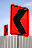 Contradicting traffic road signs Royalty Free Stock Images