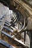 Contrafortes de vôo, catedral de Milão, Italy imagem de stock royalty free