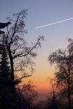 contrail αεριωθούμενο αεροπλάνο στοκ φωτογραφίες με δικαίωμα ελεύθερης χρήσης