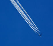 Contrail Photo stock