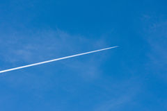 Contrail of an Aircraft over Southern California Royalty Free Stock Images