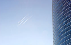 Contrails Royalty Free Stock Photo