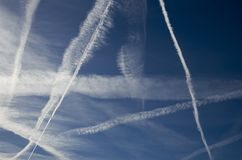 Contrails Obrazy Stock