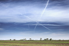 Contrails Royalty Free Stock Photos