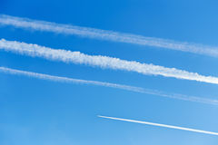 Contrails Royalty Free Stock Images