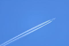 Contrails of a Jet Stock Photos