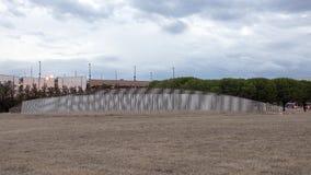 Contrails, stali nierdzewnej rzeźba Patrick Marold, miłości pole, Dallas, Teksas zdjęcia stock