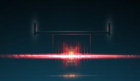 Contraluz del coche de competición Proyector F1 Fondo oscuro abstracto ilustración del vector