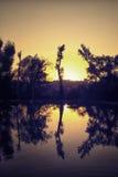 Contraluz en el lago Imagen de archivo libre de regalías