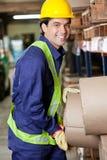Contramestre feliz At Warehouse imagem de stock