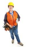 Contramestre fêmea da construção Fotografia de Stock Royalty Free