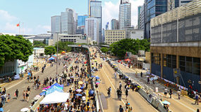 Contrappeso a Ministero della marina, Hong Kong dei dimostratori fotografie stock libere da diritti