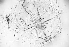 Contrapponga l'immagine di una crepa della finestra su bianco Fotografia Stock Libera da Diritti