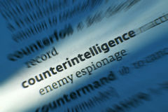 Contraspionage - Dictonary-Definitie royalty-vrije stock fotografie