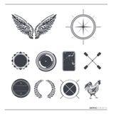 Contrassegni & simboli di vettore dell'annata Fotografia Stock Libera da Diritti