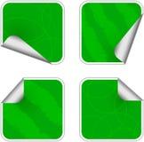 Contrassegni appiccicosi di verde Fotografia Stock Libera da Diritti