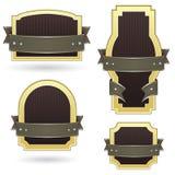 Contrassegni in bianco del prodotto dell'oro e di colore marrone Immagine Stock Libera da Diritti