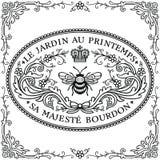 Contrassegni decorati dell'annata Bumble l'ape illustrazione vettoriale