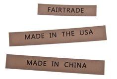 Contrassegni del commercio giusto Fotografie Stock Libere da Diritti