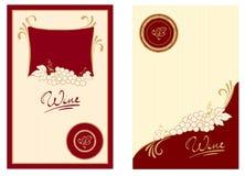 Contrassegni del vino con i turbinii illustrazione di stock