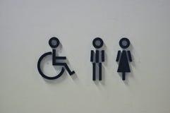 Contrassegni del WC Fotografie Stock Libere da Diritti