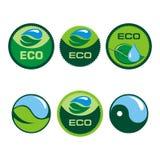 Contrassegni di Eco con il retro disegno dell'annata Vettore Fotografie Stock Libere da Diritti