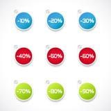 Contrassegni di riduzione di prezzi Immagini Stock Libere da Diritti
