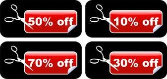 Contrassegni di vendita Immagine Stock