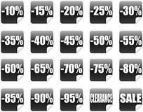 Contrassegni di vendita Fotografia Stock Libera da Diritti