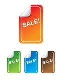 Contrassegni di vendita di vettore Fotografia Stock Libera da Diritti