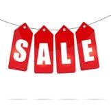 Contrassegni di vendita sulla corda Immagine Stock Libera da Diritti