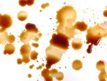 Contrassegni e gocce del caffè Fotografia Stock Libera da Diritti