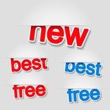 Contrassegni fissi - nuovi, il la cosa migliore, libero Immagini Stock Libere da Diritti