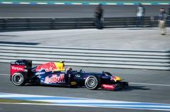Contrassegni la prova Jerez 2012 di Webber F1 Immagini Stock