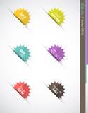 Contrassegni o icone di burst di vendita Immagine Stock