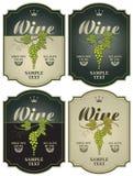 Contrassegni per vino Fotografia Stock Libera da Diritti