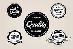 Contrassegni premio di garanzia & di qualità - retro disegno di stile Immagini Stock
