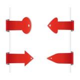 Contrassegni rossi, frecce Fotografie Stock Libere da Diritti