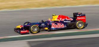 Contrassegni Webber di Red Bull Fotografia Stock Libera da Diritti