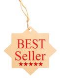 Contrassegno amichevole di Eco Best-seller, isolato su fondo bianco Immagine Stock