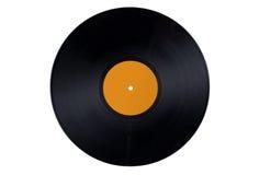 Contrassegno arancione del record di vinile Immagine Stock