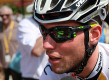 Contrassegno Cavendish del ciclista Fotografia Stock