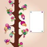 Contrassegno con l'albero da frutto Fotografia Stock Libera da Diritti