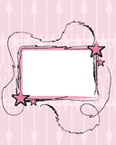 Contrassegno con le stelle dentellare Fotografia Stock