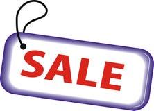 Contrassegno con una vendita dell'iscrizione Fotografia Stock Libera da Diritti