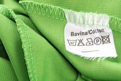 Contrassegno d'abbigliamento Fotografia Stock Libera da Diritti
