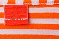 Contrassegno d'abbigliamento Immagini Stock Libere da Diritti
