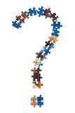 Contrassegno dalle parti del puzzle Fotografie Stock